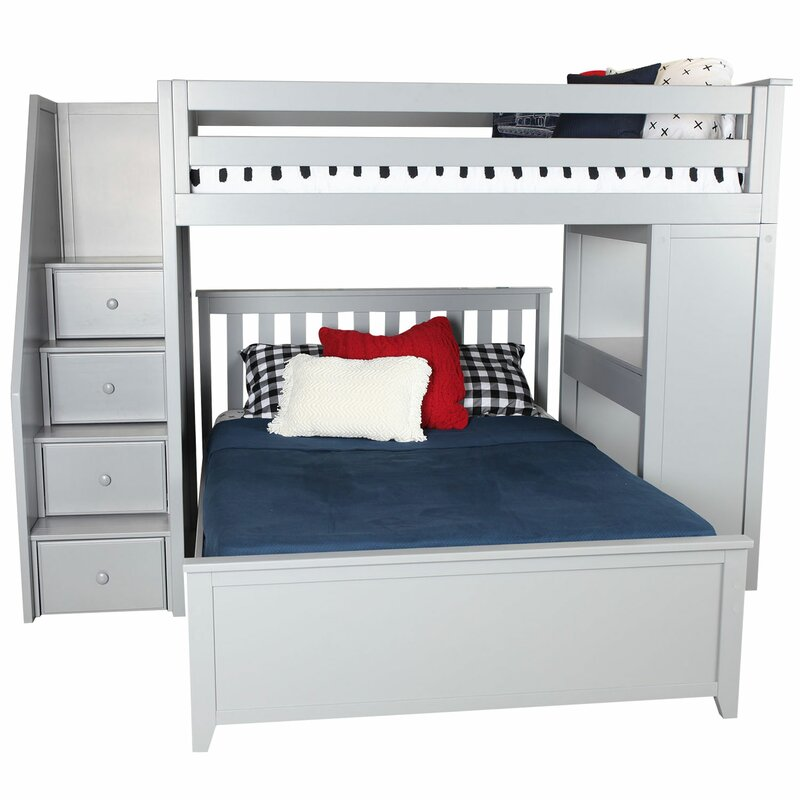 Alvarez Staircase Combo Twin Over Full L Shaped Bunk Bed Reviews