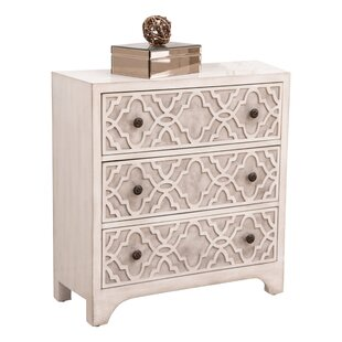 Tennie 3 Drawer Accent Chest by Bungalow Rose