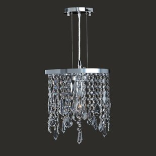 Orren Ellis Leist 1-Light Crystal Pendant
