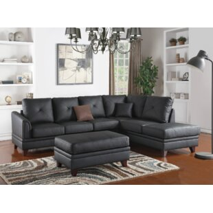 Latitude Run Torbert 3 Piece Leather Living Room Set