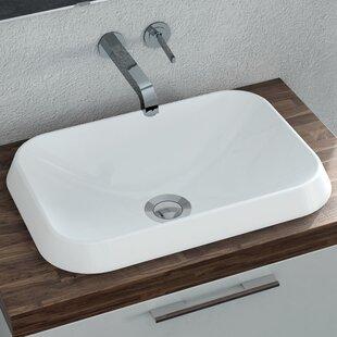 Check Prices Rossini Polymarble Rectangular Vessel Bathroom Sink By Calma