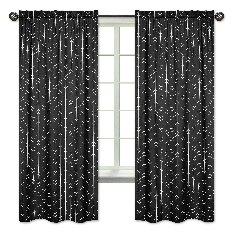 Sweet Jojo Designs Lumberjack Arrow Semi Sheer Rod Pocket Curtain Panels Wayfair