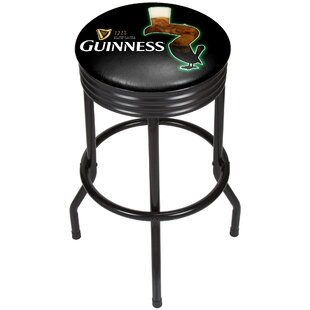 Guinness Feathering Ribbed 29 Swivel Bar Stool by Trademark Global Discount