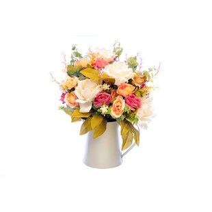 Large silk flower arrangements wayfair bouquet flower floral arrangement in jar mightylinksfo