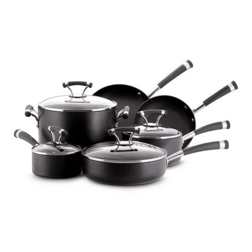 10-Piece Circulon Contempo Non-Stick Cookware Set (Black)
