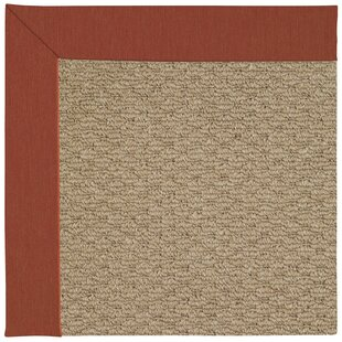 Lisle Machine Tufted Red/Brown Indoor/Outdoor Area Rug