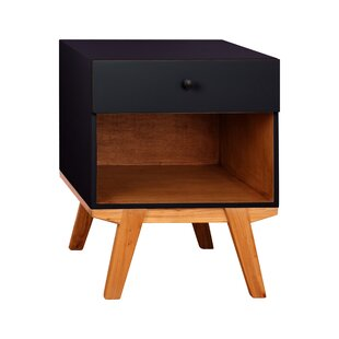 Amoroso 1 Drawer Nightstand by Wrought Studio