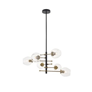 Greco 6-Light Cluster Pendant by George Oliver