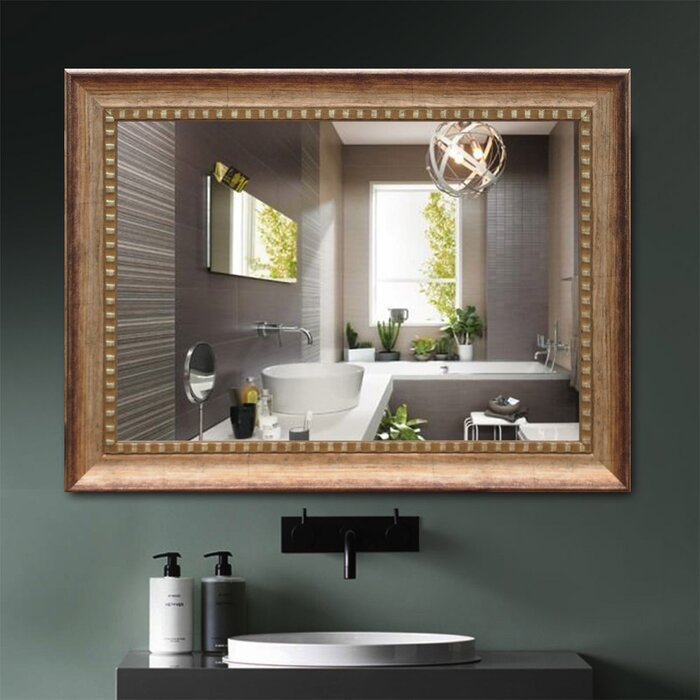 Bodden Rectangle Hangs Horizontal Vertical Wall Mounted Mirror For Living Room Bedroom Cloakroom Dressing Bathroom Vanity