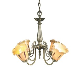 Springdale Lighting Columbus Tulip 4-Light Shaded Chandelier