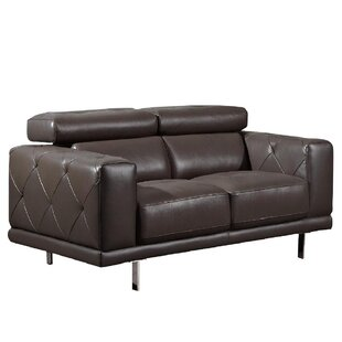 Belmar Leather Loveseat by Wade Logan