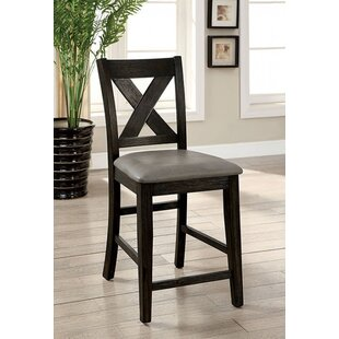 Alcott Hill Ilya Counter Height Upholstered Dining Chair (Set of 2)