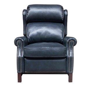 Jazzmyn Leather Manual Recliner  sc 1 st  Wayfair & Blue Leather Recliner Chair | Wayfair islam-shia.org