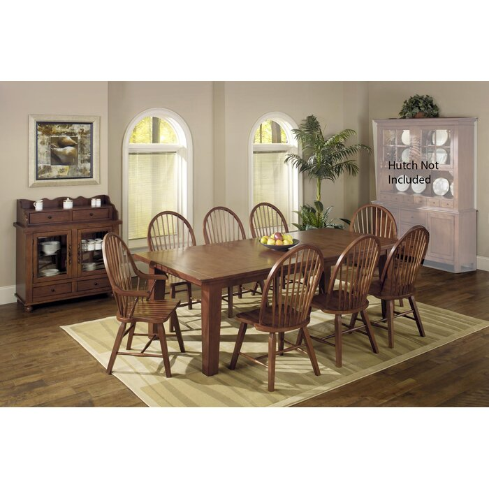 7b4e03534bc5 August Grove Adal 10 Piece Solid Wood Dining Set | Wayfair