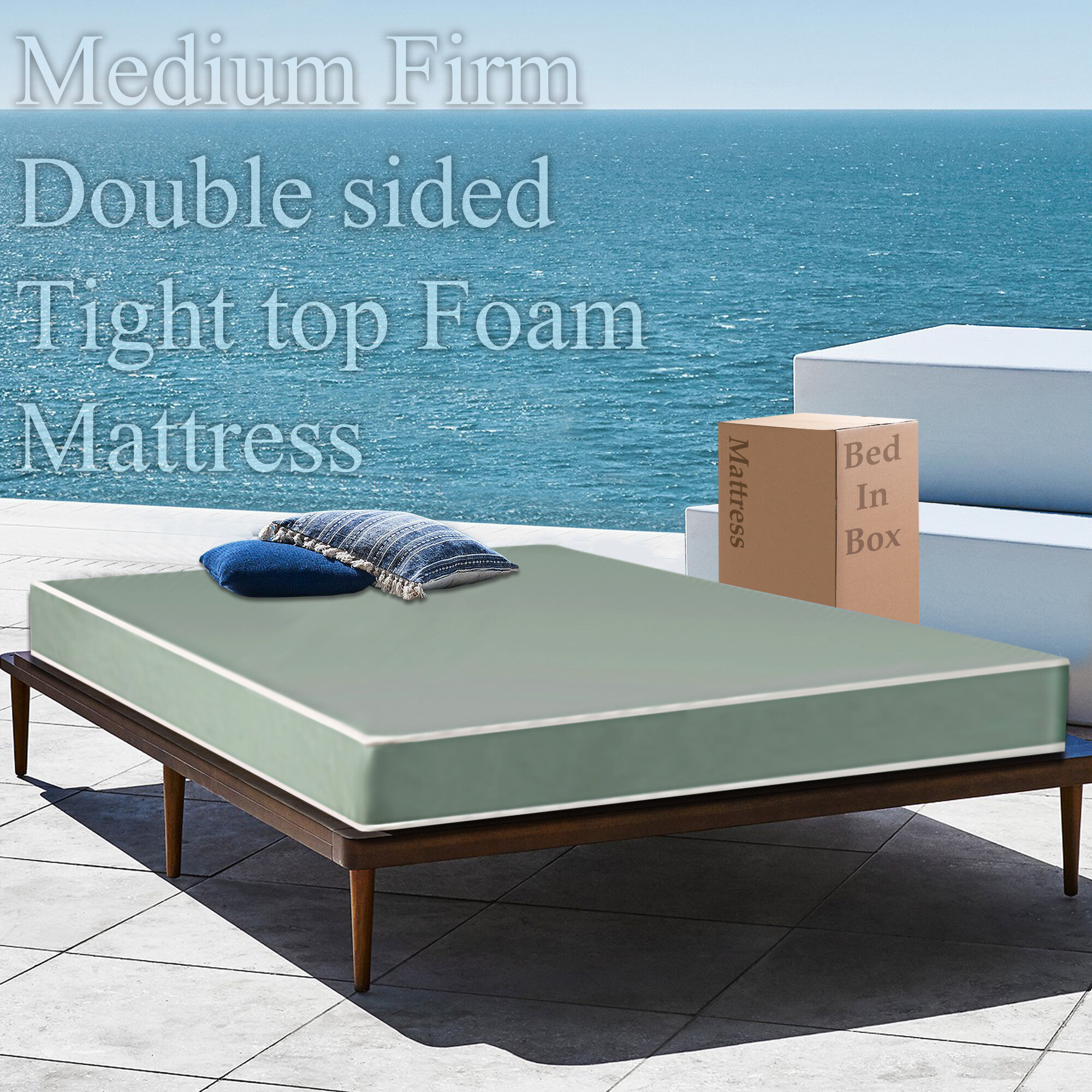 "Alwyn Home Hailey 5"" Medium Memory Foam Mattress   Wayfair"