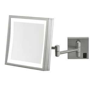Kimball & Young Single Sided Square 3x Magnification LED Wall Mirror (Hardwired)