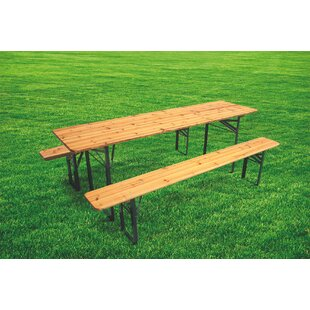 Folding Wooden Picnic Table By Galileo