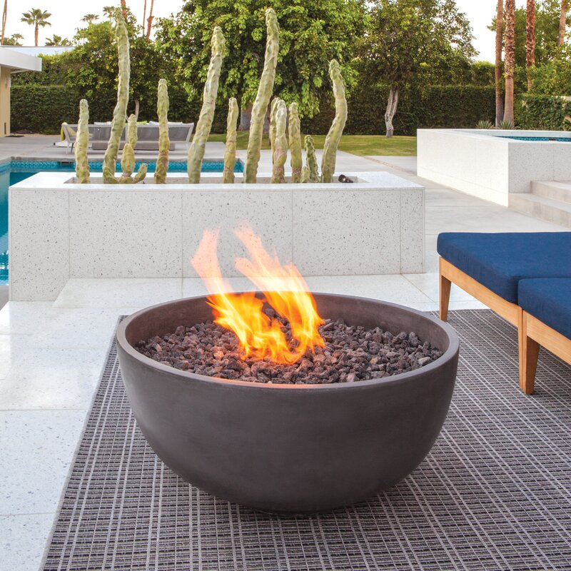 Amazing Urth Concrete Natural Gas/Propane Fire Pit
