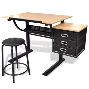 Height Adjustable Desk And Chair Set By Symple Stuff