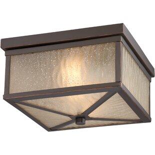 Loon Peak Cedar 2-Light LED Outdoor Flush Mount