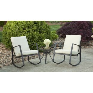 Aurora 3 Piece Cushion Rocking Bistro Set by Liberty Garden Patio