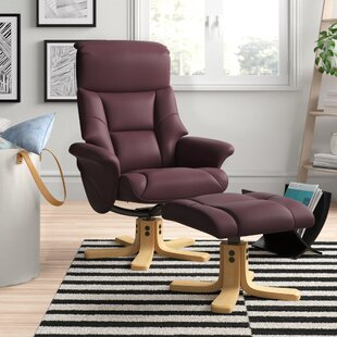 Catalina Manual Swivel Recliner With Footstool By Zipcode Design