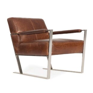 Orren Ellis Irvin Top Grain Contemporary Armchair
