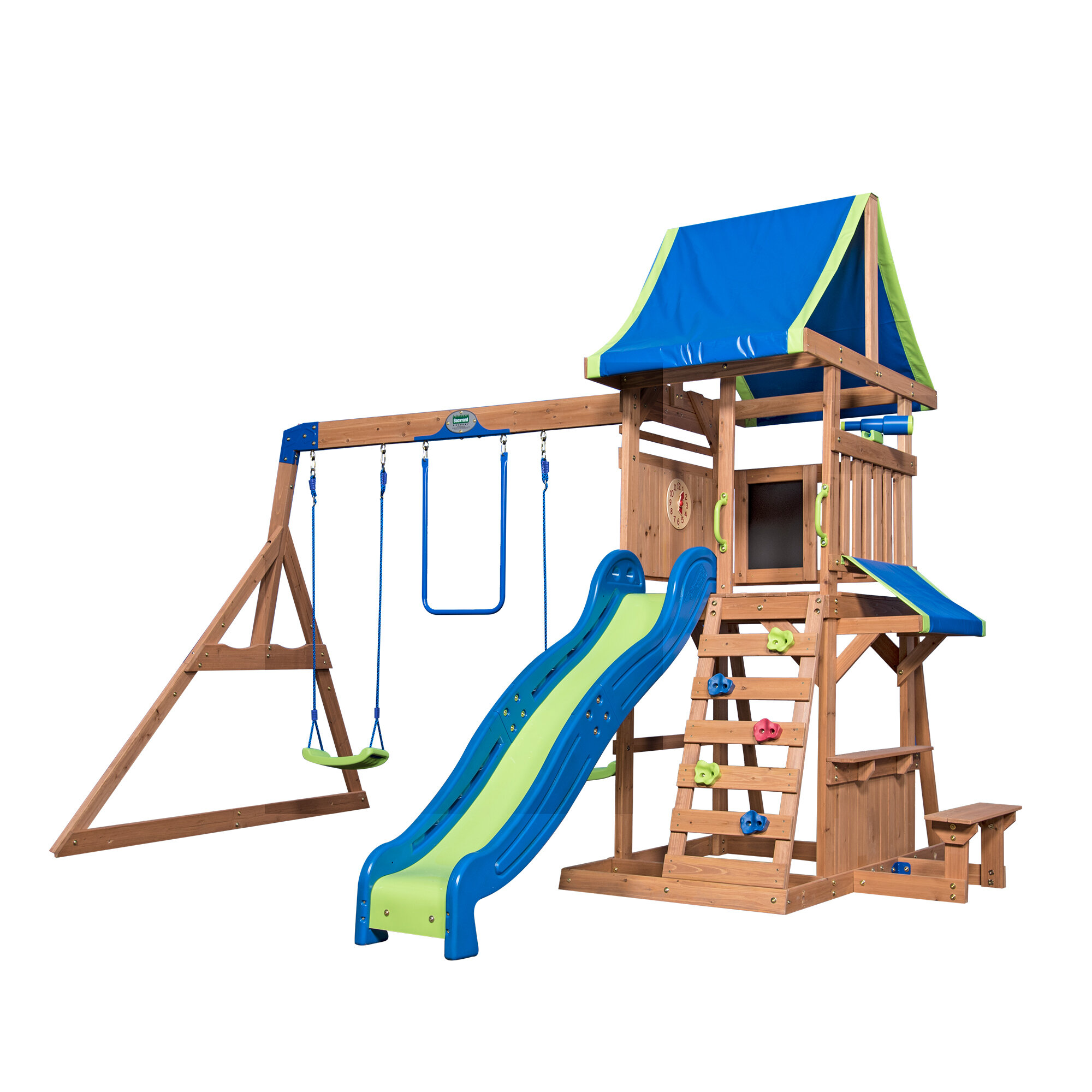 Backyard Discovery Cedar Point Swing Set Reviews Wayfair