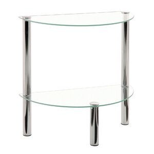 Lovely Suni Demilune Side Table With Storage