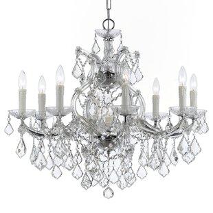 House of Hampton Sagamore Swarovski Spectra 9-Light Candle Style Chandelier