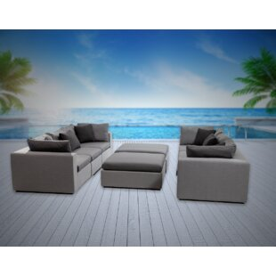 Malani 8 Piece Sunbrella Sofa Seating Group with Sunbrella Cushions