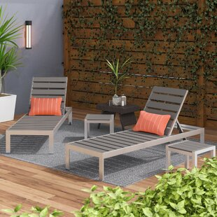 Ligon 2 Chaise Lounge Set with Table