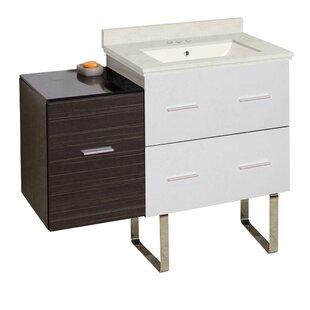 Phoebe Modern Handles 3 Drawers Drilling Floor Mount 38 Single Bathroom Vanity Set by Orren Ellis