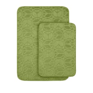 Katy Sage 2 Piece Bath Rug (Set of 2)