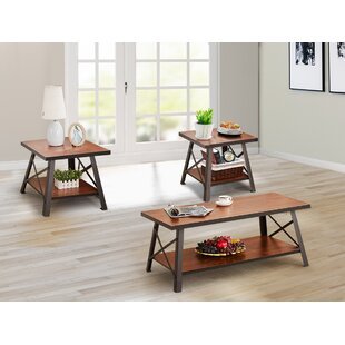 Dunkley 3 Pieces Coffee Table Set