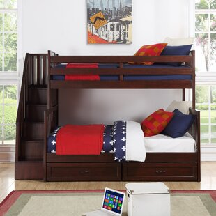 Stalker Twin Over Full Standard Bed with Storage Drawers by Harriet Bee