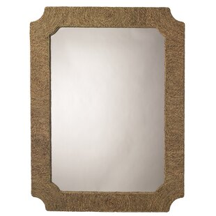 Bay Isle Home Natural Seagrass Accent Mirror