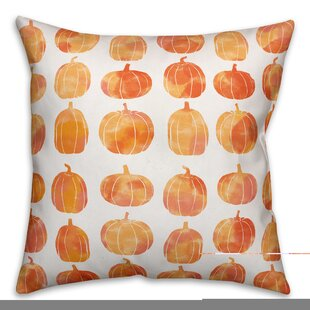 Pumpkins Double Sided Print Throw Pillow