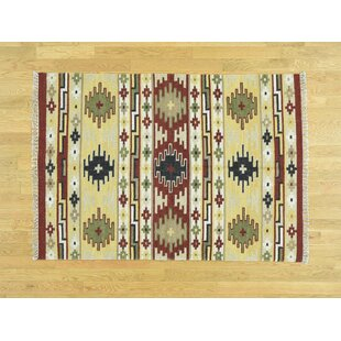One-of-a-Kind Beebe Handmade Kilim Wool Area Rug by Isabelline