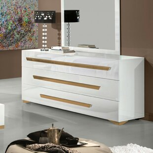 Willa Arlo Interiors Eloisa 3 Drawer Dresser with Mirror