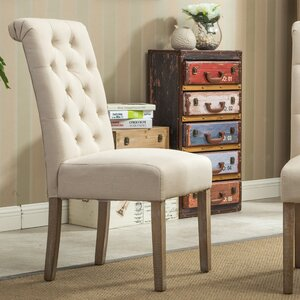 Sabanc Solid Wood Button Tufted Side Chair (Set of 2) by Laurel Foundry Modern Farmhouse