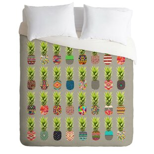 East Urban Home Pineapple Party Duvet Cover Set