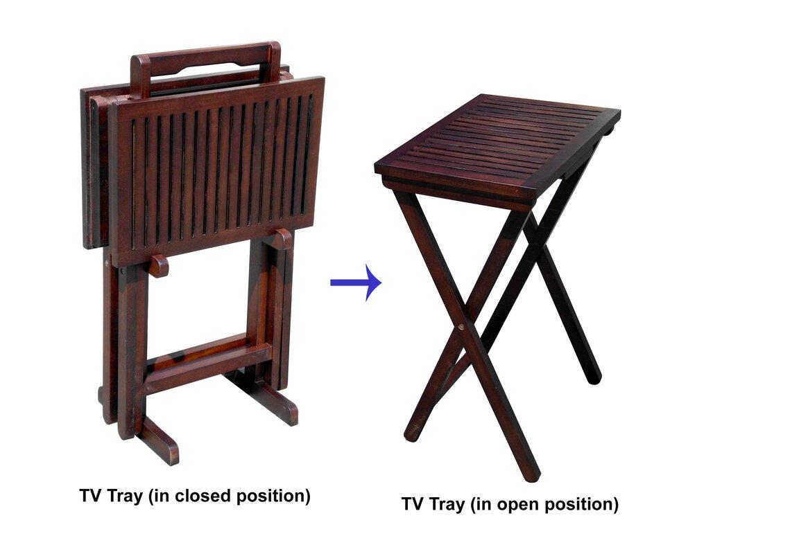 Mahogany 3 Piece Tray Table Set  sc 1 st  Wayfair & D-Art Collection Mahogany 3 Piece Tray Table Set \u0026 Reviews | Wayfair