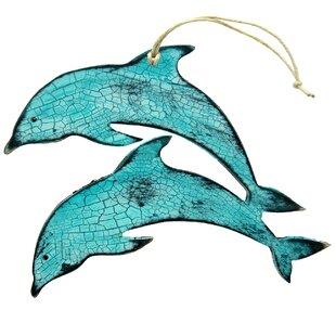 2c1b8c12397ac Dolphin Wooden Ornament (Set of 3)