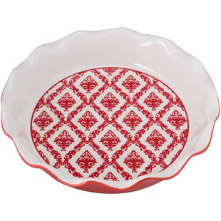 Damask Pie Dish