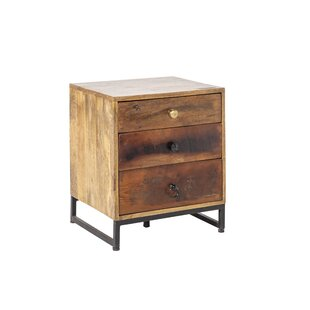 Zachary 3 Drawer Bedside Table By Williston Forge