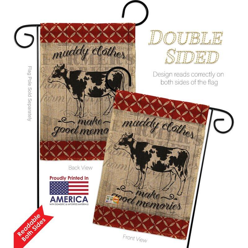 Breeze Decor Farm Cow 2 Sided Polyester 19 X 13 In Garden Flag Wayfair