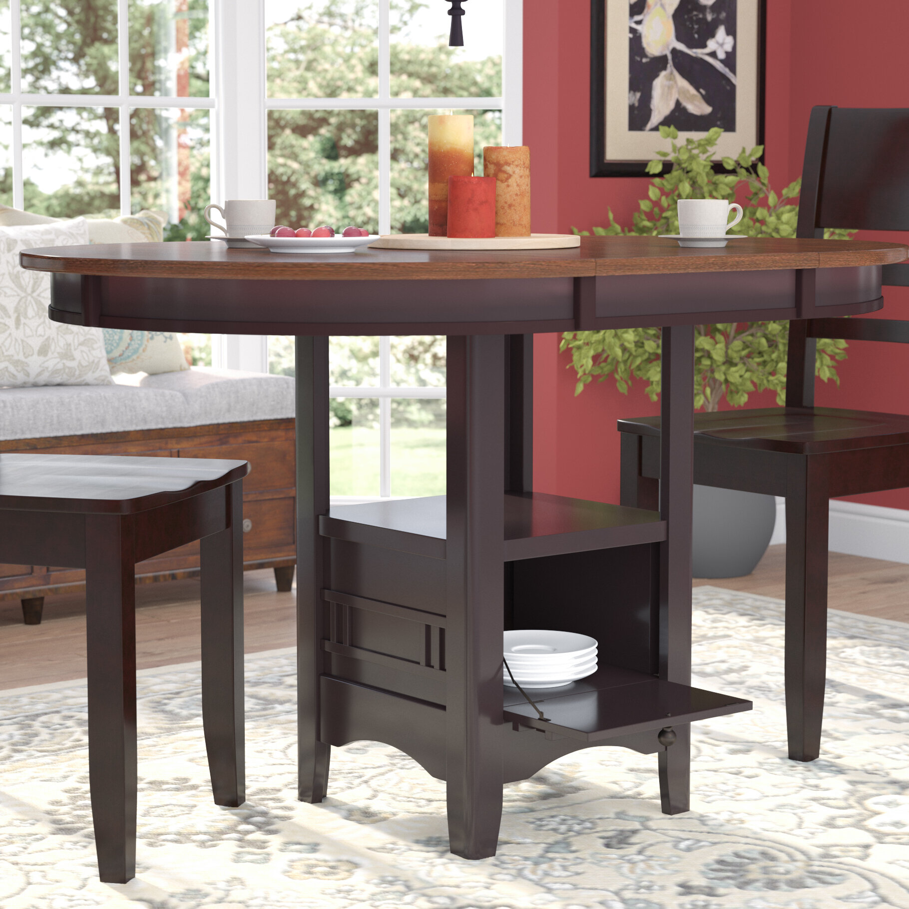 Superb Drop Leaf Storage Kitchen Dining Tables Youll Love In Interior Design Ideas Philsoteloinfo