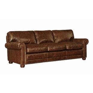 Jakey Leather Sofa by Darby Home Co