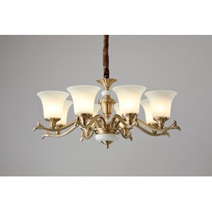 Flore 8-Light Shaded Chandelier by Charlton Home